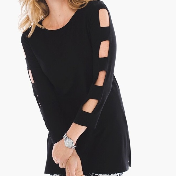Chico's Tops - Chico's Zenergy Sydnie Sleeve Cut Out Tunic